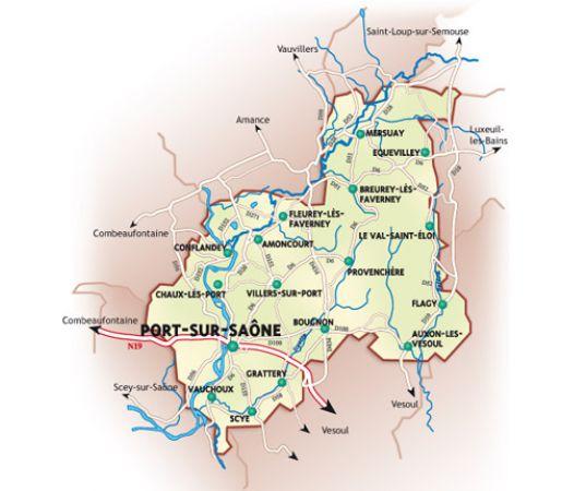 Canton de port sur sa ne la haute sa ne la route des for Notaire port sur saone